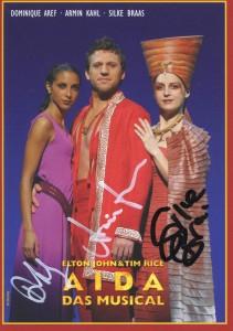 Autogrammkarte AIDA – Das Musical